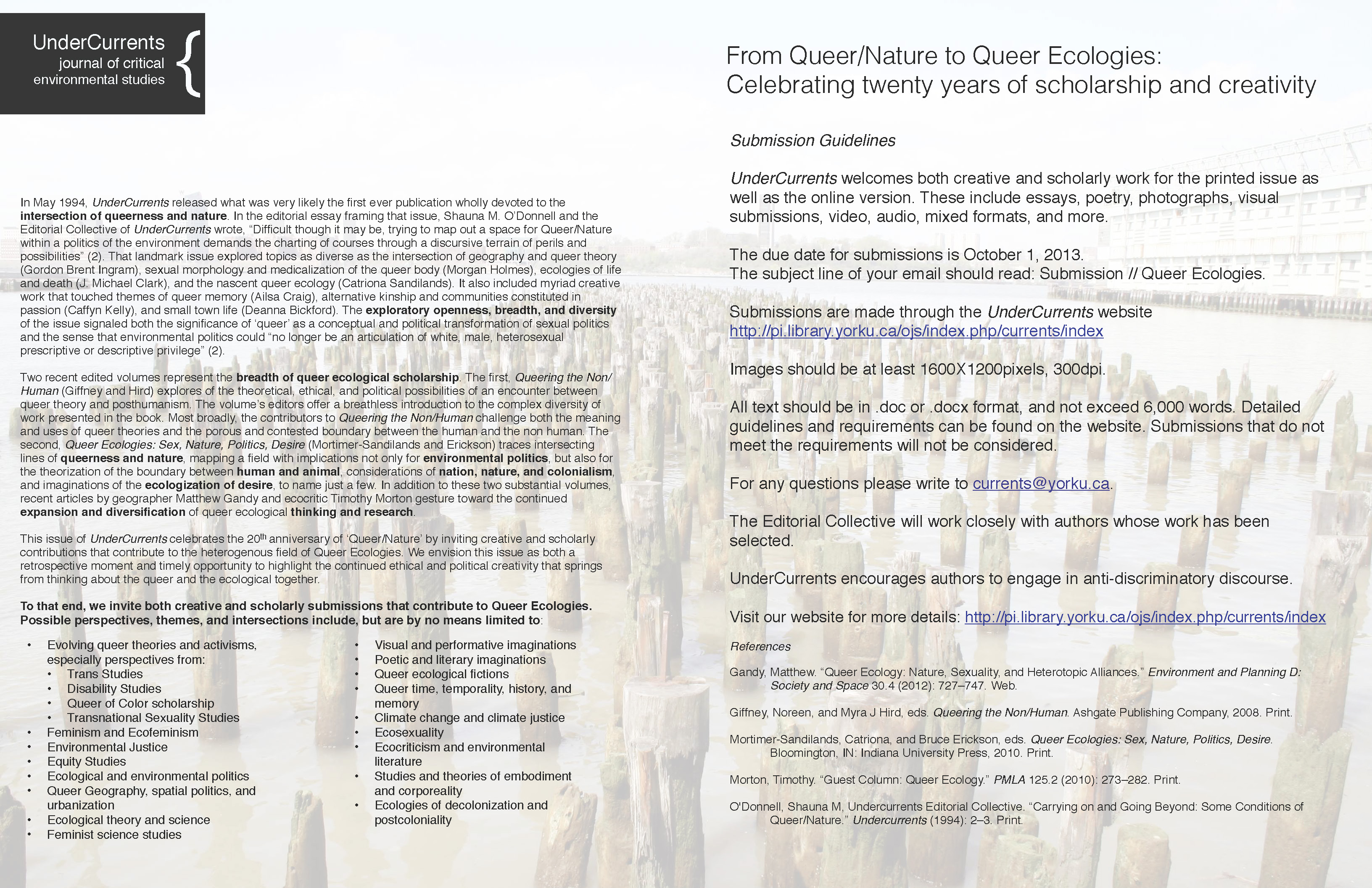 the ecological constructions of queer essay
